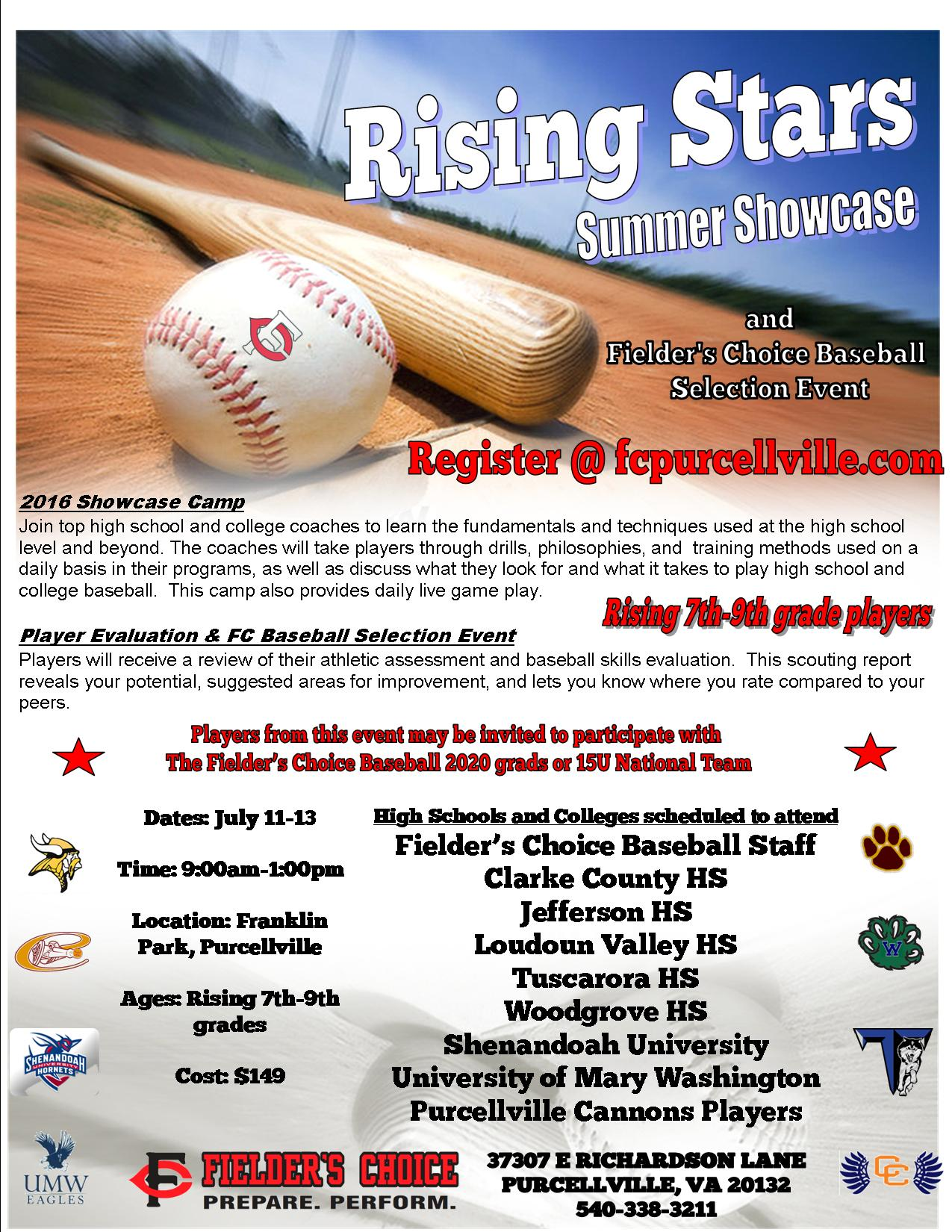 3efe9755d38 2016 Showcase Camp- Inaugural Event! This camp allows for players to meet  area HS and college coaches and showcase their skills.