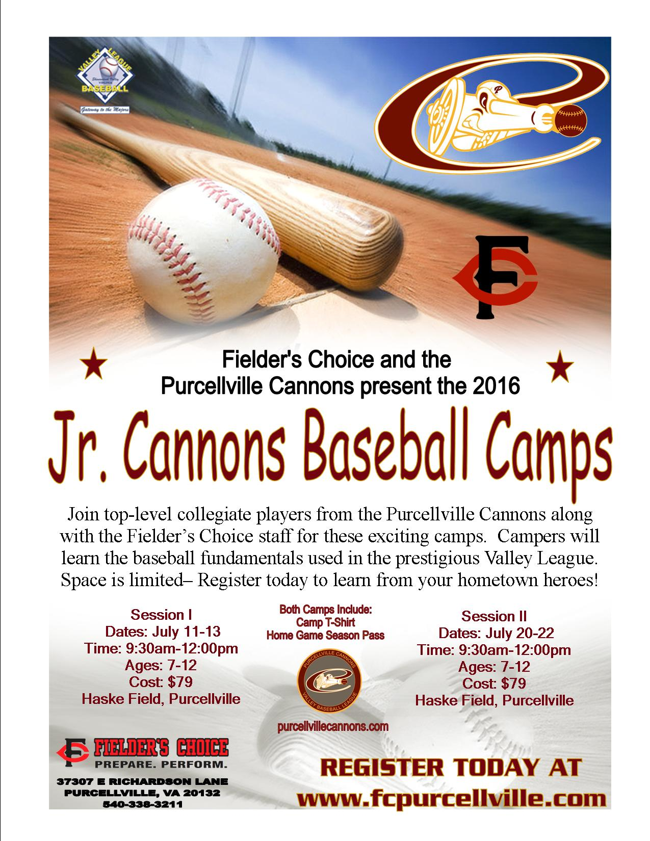 2016 Jr Cannons Camps